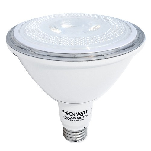 green watt led 17watt par 38 outdoor rated 5000k 40 flood light bulb is dimmable - Flood Light Bulbs