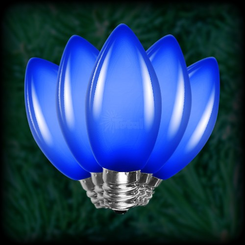 led blue c9 christmas bulbs smooth replacement spare 25. Black Bedroom Furniture Sets. Home Design Ideas