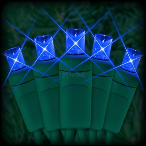 Led Blue Christmas Lights 50 5mm Mini Wide Angle Led Bulbs