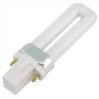 CFL 5watt PL bulb 1U 2-pin G23 27K 10,000 hrs