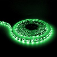 Green LED tape light 16ft 24volt DC SMD 5050 IP44 rated dimmable