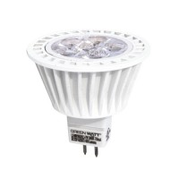 Green Watt LED 7watt MR16 3000K 25° narrow flood light bulb low voltage dimmable G-L6-MR16GU53D-7W-30K-25