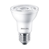 Philips 463687 LED Par20 6watt 3000K 35° flood AirFlux light bulb dimmable 6PAR20/LED/830/F35/DIM SO 120V 6/1