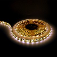 Warm white LED tape light 16ft 24volt DC SMD 5050 IP44 rated dimmable