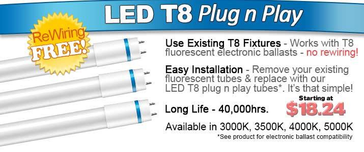 LED T8 DLR