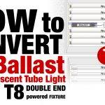 How to convert a TWO Ballast T8 Fluorescent Tube Light to LED T8 DOUBLE END powered Fixture